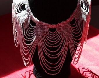 Pearl Czech Glass Bead Collar Necklace