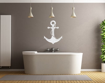 Anchor Wall Decal Bathroom, Living Room, Bedroom, Room Decor Wall Vinyl Decal Sticker
