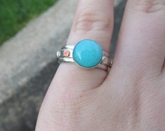 Amazonite Sterling Ring Size 7