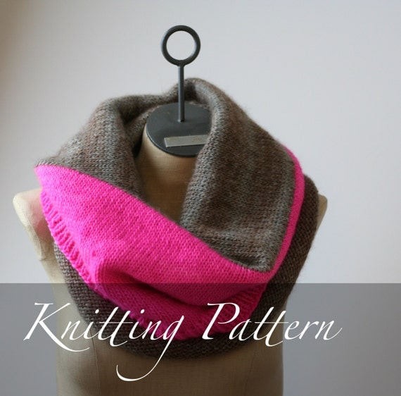 Knitting Pattern The Color Block Blanket Cowl Worsted Weight
