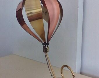DeMott Hot Air Balloon Sculpture, Vintage DeMott, Vintage Metal Art, Metal Sculpture