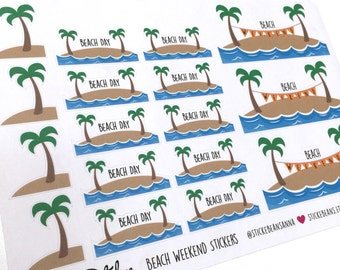 Beach Weekend / Day Stickers