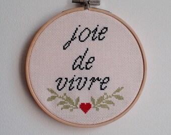 Joie de vivre – cross stitch
