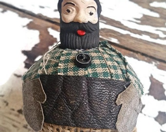 Yukon Jim Lumberjack Holiday Christmas Ornament Beard Bear Plaid YU0010