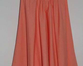 Vintage coral strapless dress 60's Size 32-34 FR