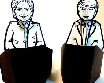 Donald Trump - Hillary Clinton Debate Paper Doll Bundle - Printable Toy
