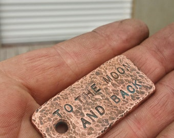 Custom Copper Keychains! Your Words/Dates. Patina'd