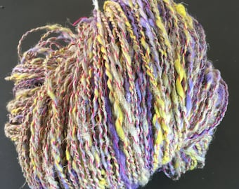 """Skein of linen, cotton and ramie spun by hand. """"IRIS"""""""