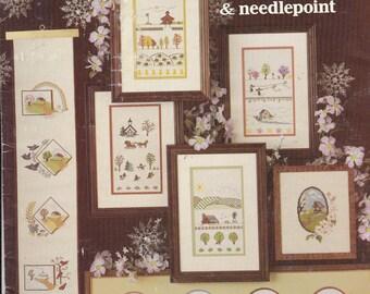 Four Seasons Cross Stitch Sampler Patterns 12 Designs Leisure Arts Leaflet 174