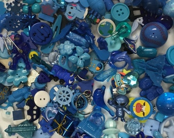 25 Blue Trinkets (Small), for I Spy bags, Occupational Therapy, Sensory tables, Rice Boxes, Advent Calendars, Speech therapy, Teachers