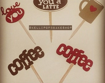 Coffee Lovers Cupcake Toppers