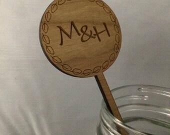 Custom Engraved Stir Stick Party Favor