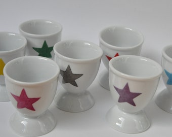 Eggcup with a star, personalized with a first name