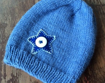 Baby slouch hat with star