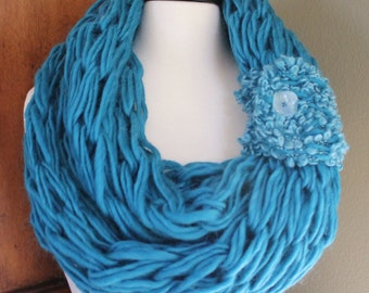 Pacific Blue Arm Knit Scarf