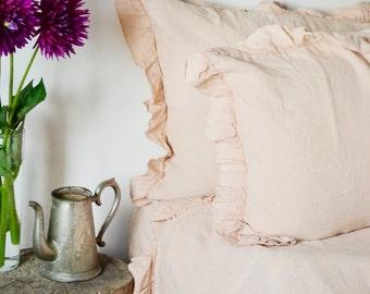 RUSTIC Linen pillowcase, handmade, luxury softened, linen pillow case, linen pillow shams. Natural Linen Pillow, custom pillowcase