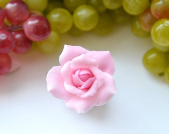 Rose barrette || Hair pin flower