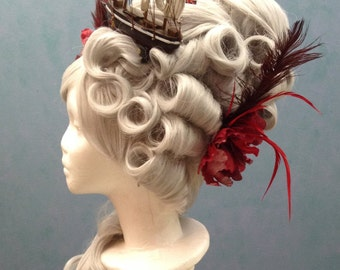 Silver Marie Antoinette Wig with ship