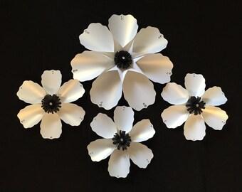 4 piece paper flowers, room decor