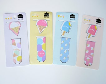 A Set of 2 Ice Cream Magnetic Page Markers