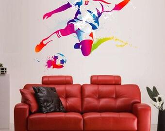 Soccer Player Wall Decals Football Player Wall Decals Soccer Wall Decals  European Football Wall Decals Kcik120