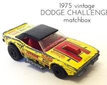 MATCHBOX Lesney DODGE CHALLENGER 1975 Matchbox Superfast 1970s Matchbox American Racing Matchbox Cars Collectors Toy Cars