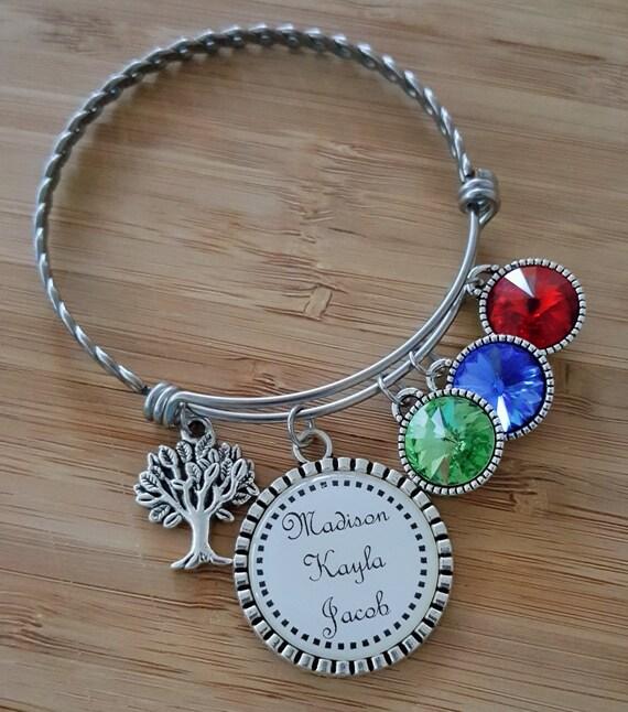 Personalized Mom Bracelet Grandma Bracelet Birthstone Bracelet for Mom Grandma Gift Mom Gift Gifts for Grandma New mom Gift New Mom Bracelet