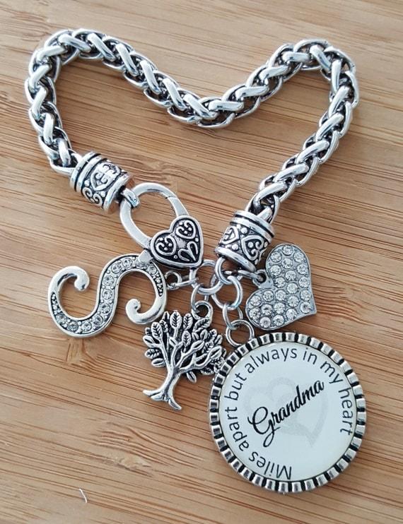 Grandma Bracelet Gifts for Grandma Grandma Gift Grandma Jewelry Gift from Grandkids Personalized Grandma Gifts Miles Apart Always in Heart