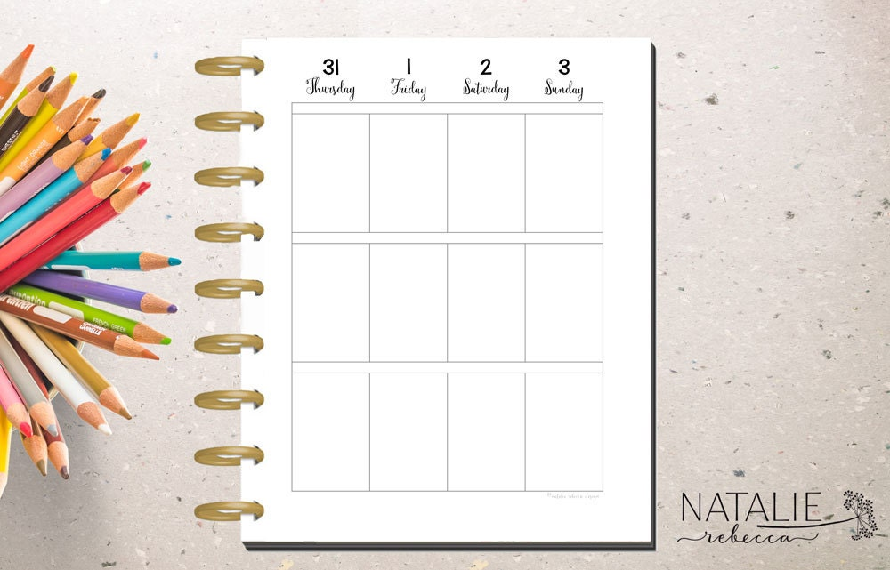 Happy planner calendar insert happy planner printable for Make a planner free