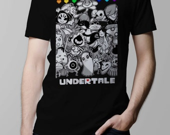 Undertale All Characters Sans Papyrus Toriel Undyne Alphys Inspired T-shirt. Male and Female Apparel