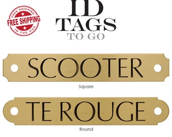 Custom Solid Brass Halter Plate Engraved and Personalized for Your Horse.