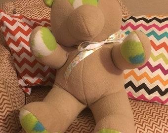 Fleece Teddy Bear; Made To Order; stuffed animal, bear stuffed animal, decorative bear, teddy bear, plush bear, toy bear, teddy bear plushy