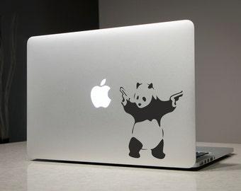 Banksy Panda - Macbook Decal Sticker Laptop Vinyl Decals Stickers Apple Mac Pro Air Handmade Gifts
