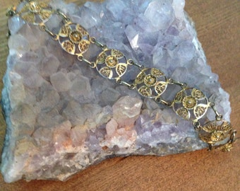 SALE - Vintage Filigree Bracelet