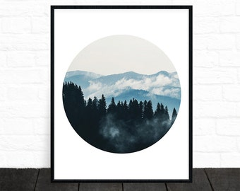 Forest Print, Mountain Photography, Printable, Nature Print, Nature Poster, Landscape Print, Minimalist, Forest Photography, Woodland Prints