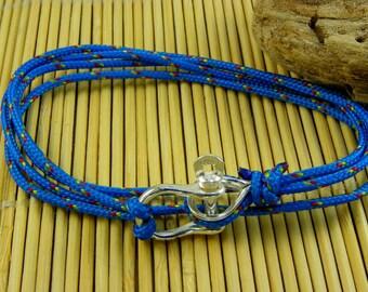 """Bracelet carabiner """" shackle """" in Silver 925 - Surfer bracelet - Sailor"""