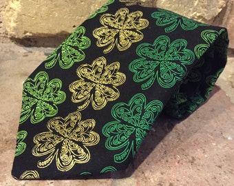 DISCOUNTED - St Patricks Day Shamrock Tie