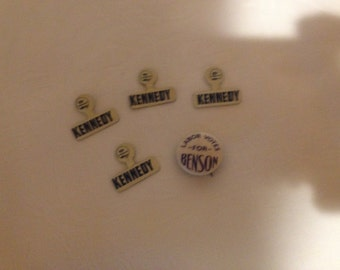 CAMPAIGN BUTTONS  Kennedy 1960's