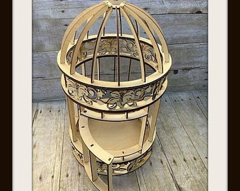 Wood Bird Cage, Bird Cage Centerpieces, Wooden Birdcages, Large Bird Cage, Wedding Centerpieces, Gift Table Decor, Outdoor Wedding decor