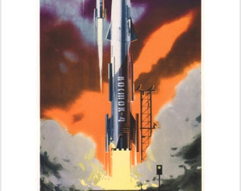 Socialism Is Our Launching Pad - Vintage 1962 Poster Soviet Union 24x36 RARE!