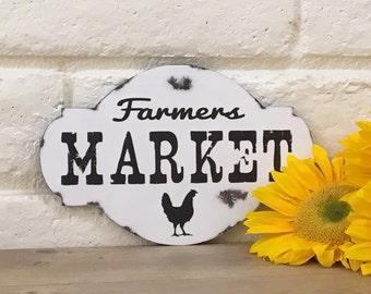 Farmers Market Wood Sign, Country Kitchen Decor, Chicken Sign, Farmhouse Decor, Rustic Farmhouse Sign, Kitchen Decor, Farm Sign, Farm Decor
