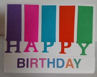 Happy Birthday Rainbow Colors