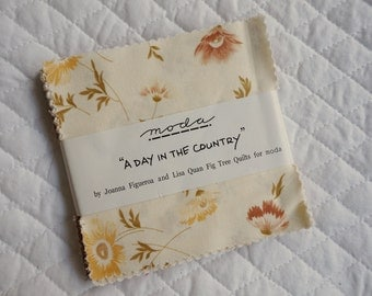 A Day in the Country - Charm Pack - 34 pieces - Joanna Figueroa and Lisa Quan, Fig Tree Quilts - Moda Fabric