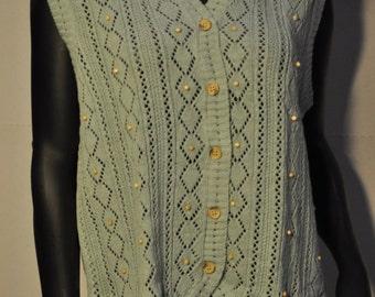 Womens Vintage Knit Sweater Vest
