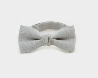 Light Gray Bow Tie Father Son Matching Bow Ties Grey Pocket Square Baby Bow Tie