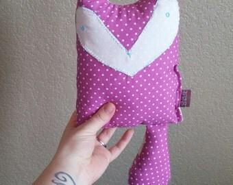 Raspberry Fox Pillow Baby Toy