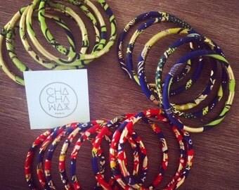 """Bracelets """"St. Louis"""", wax cloth Golden"""