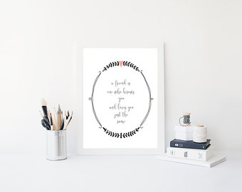 Bridesmaid Gift Printable, Digital Download, Instant Download, bridesmaid gift idea, home decor, gift ideas, wall art, wedding gift