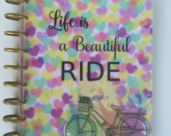 Planner cover, Spring, flowers, bicycle, planner