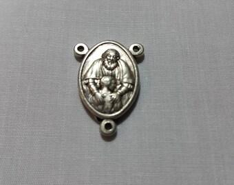 Silver Holy Trinity Rosary Centerpeice